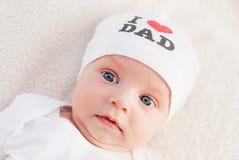 Portrait cute newborn baby Royalty Free Stock Image