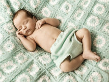 Portrait of a cute newborn child Royalty Free Stock Image
