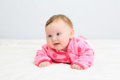 Portrait of cute newborn girl Royalty Free Stock Photos