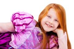 Cute playful little princess Stock Photos