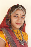 Portrait of a cute Rajasthan girl Royalty Free Stock Photo