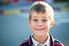 Portrait of a cute schoolboy Stock Image