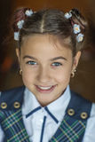 Portrait of cute schoolgirl Royalty Free Stock Images