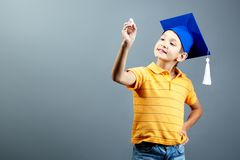 Intelligent pupil Royalty Free Stock Photography