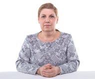 Portrait of cute senior woman stock photography