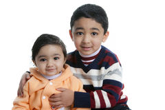 Portrait of Cute Siblings Royalty Free Stock Photo