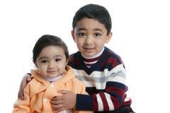 Portrait of Cute Siblings Royalty Free Stock Photo