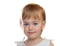 Portrait of cute small girl Stock Photos