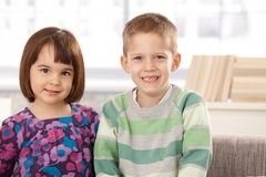 Portrait of cute small kids Stock Images