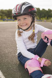 Portrait of cute smiling blond caucasian girl Royalty Free Stock Images