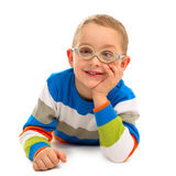 Portrait of cute smiling boy with glasses Stock Photography