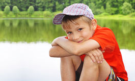 Portrait of cute smiling boy Stock Images
