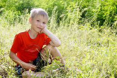 Portrait of cute smiling boy Royalty Free Stock Photos