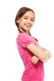Happy confident school girl Royalty Free Stock Photo