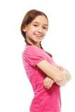 Happy confident school girl Royalty Free Stock Photo