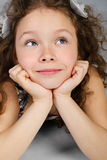Portrait of cute smiling little girl Royalty Free Stock Photography