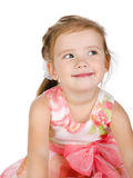 Portrait of cute smiling little girl in dress Stock Image
