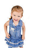 Portrait of cute smiling little girl in dress Royalty Free Stock Image