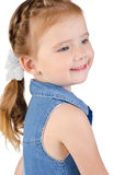 Portrait of cute smiling little girl isolated Royalty Free Stock Photo