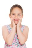 Portrait of cute smiling little girl Royalty Free Stock Photo
