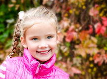 Portrait of cute smiling little girl Stock Photography
