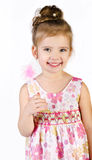 Portrait of cute smiling little girl in princess dress Stock Images