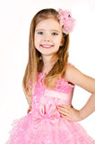Portrait of cute smiling little girl in princess dress Royalty Free Stock Images