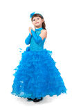 Portrait of cute smiling little girl in princess dress Stock Image
