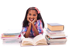 Portrait of cute student. On white background Royalty Free Stock Photos