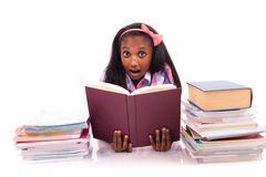 Portrait of cute student. On white background Royalty Free Stock Photo
