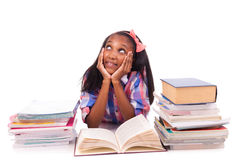 Portrait of cute student. On white background Stock Photo