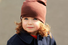 Portrait of a cute stylish one year old girl Stock Photography