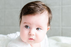 Portrait of cute sweet little newborn baby girl Royalty Free Stock Photo