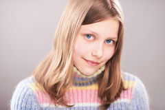 Portrait of a cute teen girl. Studio shot Royalty Free Stock Image