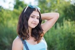 Portrait of a cute teen girl in summer. Portrait of a cute teen girl in the summer Royalty Free Stock Photos