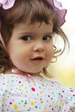 Portrait of a cute toddler Royalty Free Stock Images