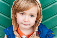 Portrait of a cute toddler boy Royalty Free Stock Images