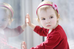 Portrait of cute toddler girl Stock Photography