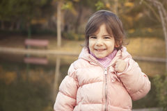 Portrait of cute toddler Stock Images