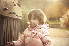 Portrait of cute toddler Stock Photos