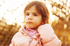 Portrait of cute toddler Stock Photo