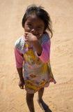 Portrait of cute Wayuu Indian La Guajira Royalty Free Stock Image