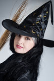 Portrait of a cute witch Royalty Free Stock Photography