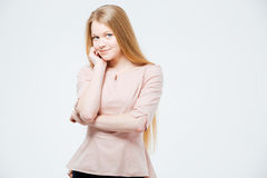 Portrait of a cute woman looking at camera Stock Photography