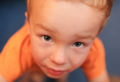 Portrait of cute 3 year-old boy Stock Images