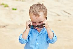 Portrait of cute 2,5 years old child Royalty Free Stock Photos