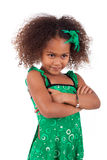 Cute young African Asian girl Royalty Free Stock Images