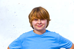 Portrait of cute young boy Stock Images