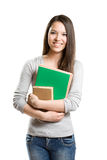 Cute young student girl. Royalty Free Stock Images