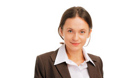 Portrait of a cute young business woman Royalty Free Stock Photography